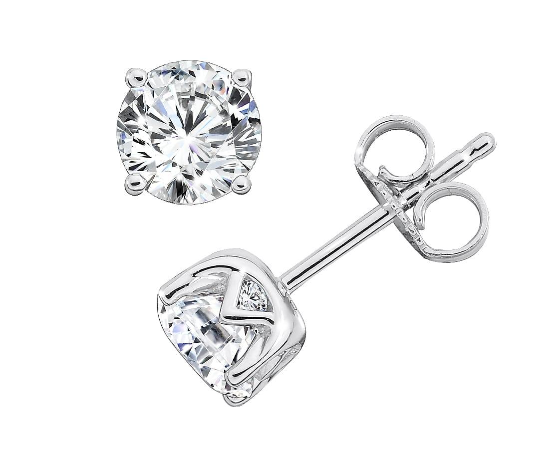 1 Carat Diamond Studs Plano 2 1, Shira Diamonds