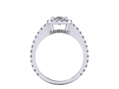 Cushion Diamond Ring Dallas 3