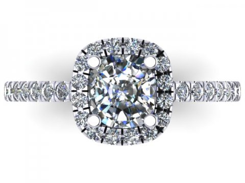 Cushion Diamond Ring Dallas 4