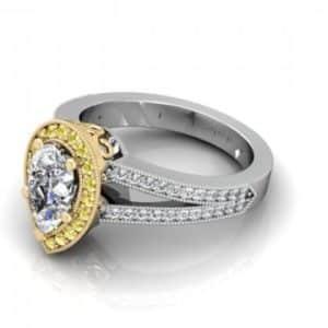 Custom Pear Diamond Ring Dallas 1