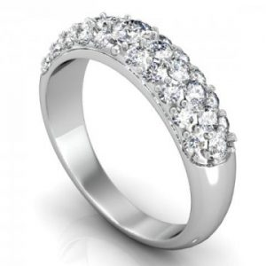 Custom wedding band in Dallas texas - Pave Wedding Bands in Dallas Texas - Shira diamonds Texas 1