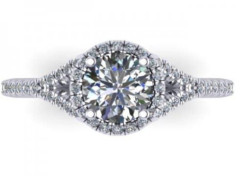 Custom Round Diamond Rings Arlington 4, Shira Diamonds