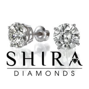 Diamond Studs - Shira Diamonds - Round Diamond Studs (1)