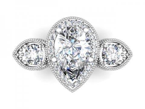Wholesale Jewelry Arlington Texas Custom Pear Engagement Rings Dallas 4, Shira Diamonds