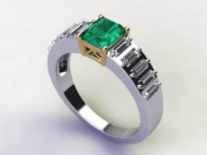 Emerald Diamond Rings Dallas 1 300x225, Shira Diamonds
