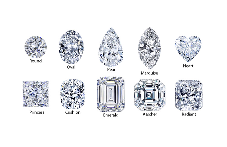 diamond shapes for engagement rings dallas